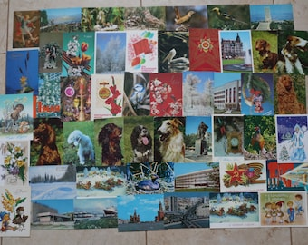 49 Postcards of the USSR. Soviet postcards, in Russian, vintage postcards, collectible# 14