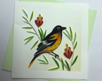 Oriole Quilling Greeting Card