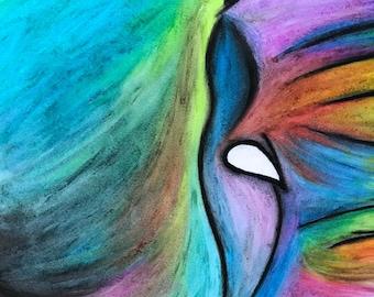 elephant in pastels