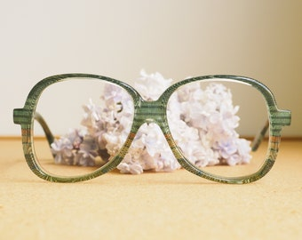 Vintage Atelier Eyeglasses 1970s/Glasses/eyeGlasses/Frames Retro Disco New Old stock glasses Fabric inlaid Eyeglass Made In Austria