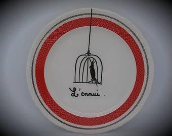 Bored  decorative plate