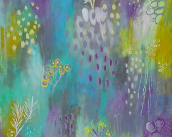 Visions of Spring II // Original Abstract Acrylic Painting - 40 x 30