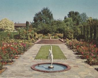 Portland, Oregon Vintage Postcard - Lambert Gardens, Sunken Gardens, Royal Rose Walk