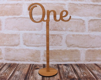 Bamboo Wedding Table Numbers or Signs
