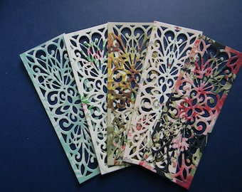 Lace Die Cut Striplet / Bookmark From Bazzill Cardstock (244)