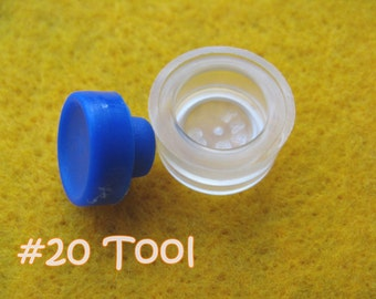 "Cover Button Assembly Tool - Size 20 (1/2"") diy notion button supplies rubber hand press non machinery"