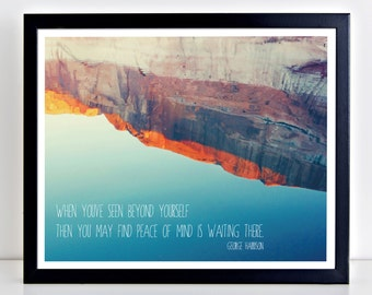 George Harrison, Quote Print, The Beatles, Lyrics, Gift for Her, Valentines Gift, Harrison Quote, Lake Powell, Utah