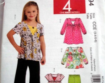 McCall's 5794 EASY - EASY Girls Top and pants pattern