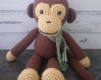 Soft Toy Animal - Crochet Amigurumi Monkey