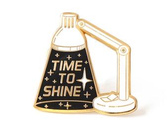 Inspirational enamel pin, Motivational pin, Space pin, Space lover, Inspiring lapel pin, Typographic pin, Lamp pin