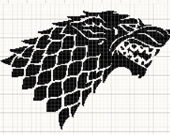House Stark Wolf Game of Thrones Cross Stitch Pattern