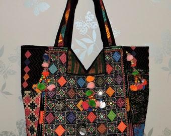 Handbag Gypsy Hobo Embroidered Ibiza India tribal Banjara