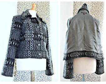 Créateur veste veste rétro Blazer Cropped Grunge vêtements Hipster Boho Bureau usure boutons en métal laine Veste dames veste manteau Casual