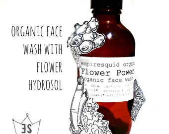Organic Facial Cleanser | Organic Face Wash With Flower Hydrosol | Natural Face Wash | Organic Face Cleanser | Natural Facial Cleanser