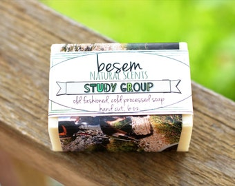 Rosemary Mint Soap // Study Group, cool, invigorating, cold process soap, pure essential oil blend