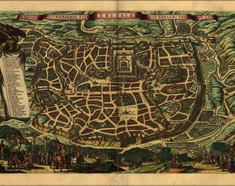 Poster, Many Sizes Available; Map Of Amsterdam 1660