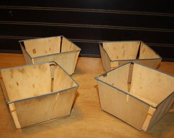 Vintage Berry Containers - set of 4 - item 2847-3