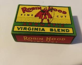 Rare Robin Hood Tobacco Tin