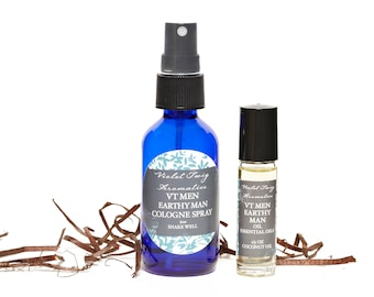 Earthy Man Spray - Cologne For Men - Earthy Spray or Rollerball - Grounding Scent - Men's Fragrance - Mens Earth Cologne - Fragrance for Men
