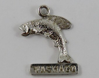 Washago Fish Sterling Silver Vintage Charm For Bracelet
