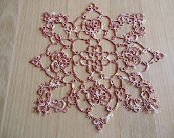 "Doily crochet tatting cotton ""flower"""