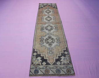 """2'2"""" x 9'4"""" Turkish Runner Rug, Handmade Turkish Runner Rug"""