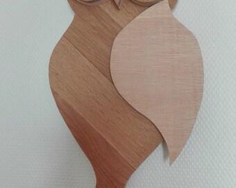 Wooden hanging owls