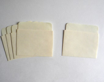 30 Manila Low Back Library Book Pockets, Library Card Pockets, Journal Pockets, Escort Card Paper