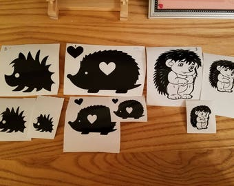 Hedgehog family decals