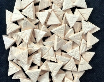100 TRIANGLE MOSAIC Tiles - BISQUE