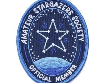 Amateur Stargazers Society Patch (glow in the dark!)