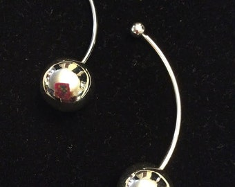 925 sterling silver unique ball earrings