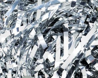 Silver Metallic Shred, Basket or Bowl Fillers, Christmas Decor