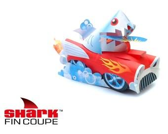 Shark Car Paper Printable Toy
