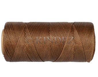 Waxed Cord, Macrame Jewelry Cord, 15 meters/16 yards, Waxed Thread Linhasita cor 362, Knotting String - Iced Coffee