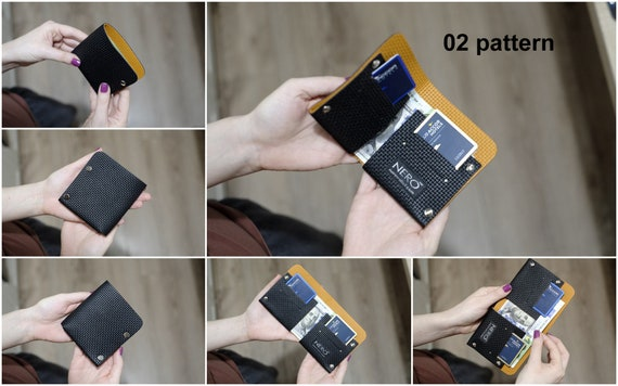 NERO Bifold Wallet  Minimalist Wallet, Mens Wallet, Pattern Design Leather Wallet