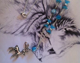 """Necklace """"Rudolph"""" Winter blue"""