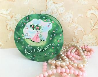 Vintage Powder Tin Cheramy New York April Showers