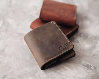 Leather wallet Wallet slim Wallet credit card Wallet front pocket Leather wallet handmade Leather purse Mens bifold wallet Billfold wallet