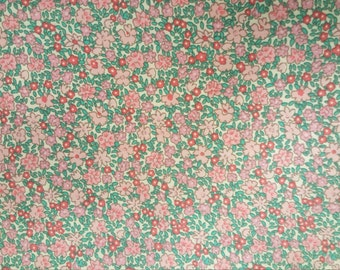 Teal ands Rose mini Print - 100% cotton