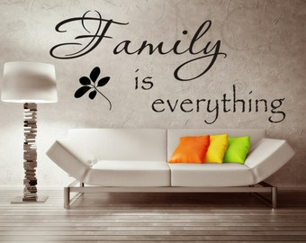 Decals for Family Room, Family Wall Decal, Picture Wall Decal, Family Room Decor, Vinyl Wall Decal, Photo Wall Decal, Family is Everything
