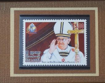 Pope Francis Visits Sri Lanka - Framed Postage Stamp