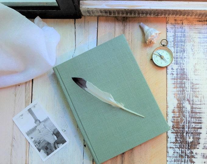 "Linen Journal in ""Sea Glass Green"""