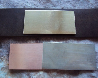 NICKEL blanks for my leather cuffs - 20g 2.5 by 1.25 size and you get TWO