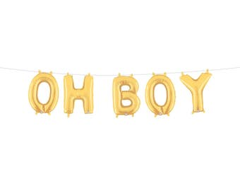 Boy Baby Shower, Oh Boy Balloons, Oh Boy Banner, Boy Baby Shower Centerpiece,  Oh Boy Baby Shower