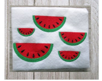 Watermelon, Watermelon Design, Machine Embroidery Design, Filled Stitch, 5 Sizes, No Fonts Included