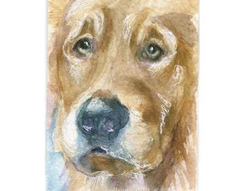Watercolor Dog, Golden Retriever Print, Dog Print, Retriever Print, Dogs