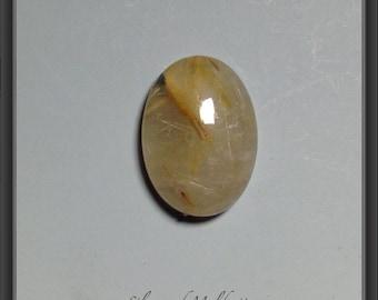 Golden rutilated quartz  cabochon 13x18mm