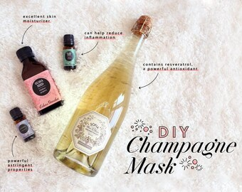 Pink Champagne Face Mask