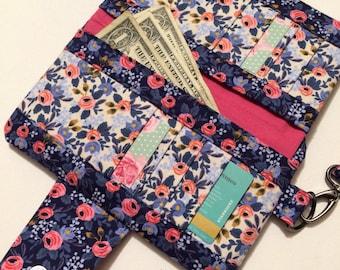 Wallet Clutch // Compact Purse // zipper top purse // Vegan Friendly Bag